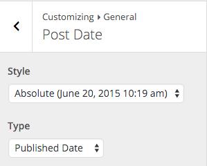 Beginner Customizer Post Date