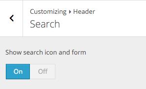Beginner Customizer Search Header